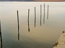 Free Poles In Water 2-9 Royalty Free Stock Images - 4771599