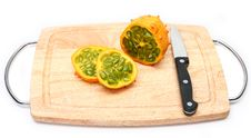Kiwano Or African Horned Melon Stock Image