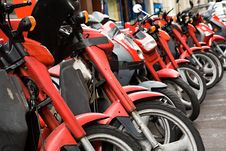 Free A Lot Of Motorcycles Royalty Free Stock Photo - 4771905