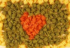 Trottole Pasta Heart Royalty Free Stock Images