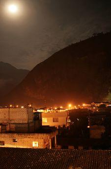 Banos Ecuador At Night Royalty Free Stock Photos