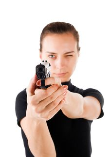 Free Girl With Gun. Stock Image - 4772911