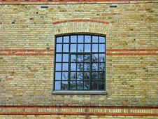 Bricks Wall And A Window Stock Images