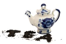 Free Teapot With Blue Ornaments. Stock Photos - 4773493