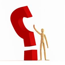 Free Question Mark Stopping 4 Stock Photography - 4774092