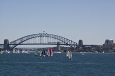 Free Sydney Harbor And Bridge With Many Sailboats Royalty Free Stock Photo - 4774605