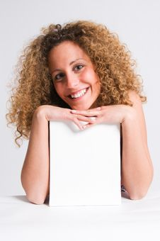 Free Frizzy Hair Girl Billboard Stock Photography - 4774712