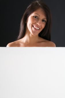 Free Smiling Girl Billboard Royalty Free Stock Images - 4774839