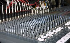 Free Large Audio Mixing Board Royalty Free Stock Photography - 4774877