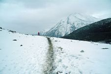Free Through Snowy Mountains Stock Photography - 4776302