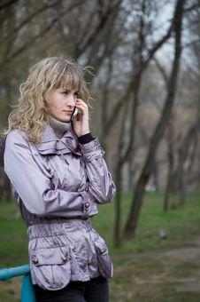 Free Phone Girl Stock Photography - 4776372