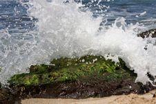 Free Splash On Rock Stock Photography - 4777132
