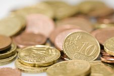 Free Euro Coins. Royalty Free Stock Photography - 4777547