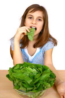 Free Girl Eating A Salad Royalty Free Stock Image - 4778766