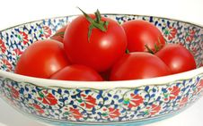 Free Tomatos In Ceramic Bowl Royalty Free Stock Photography - 4779257