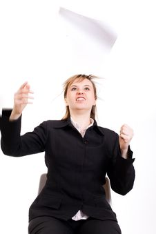 Free Angry Businesswoman Royalty Free Stock Photos - 4779268