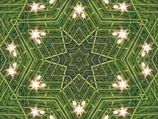 Free Abstract Six-final Star With Patterns. Royalty Free Stock Photography - 4779867