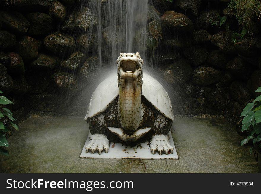 Stone dragon-tortoise