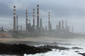 Free Oil Refinery By The Sea Royalty Free Stock Photography - 47767907