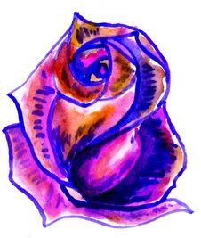 Free Colorful Painted Rose Stock Photos - 47771233