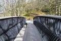 Free Collie Crossing Modern Metal Footbridge Stock Photo - 4782170