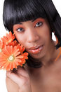 Free Beautiful Woman With Flowers Royalty Free Stock Image - 4782896