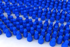 Free A Crowd Of Abstract Pawns Royalty Free Stock Photos - 4780098