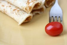 Free Barbeque Chicken Pancakes Stock Image - 4780481