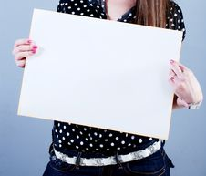 Free Woman Takes Placard Royalty Free Stock Photography - 4781477