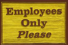 Free Employees Only Sign Stock Photos - 4783003