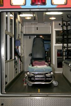 Free Interior Of An Ambulance Stock Photography - 4783452