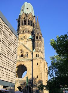 Old And New Church In Berlin Germany Royalty Free Stock Images