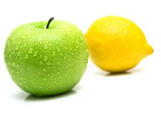 Free Green Apple And Lemon Royalty Free Stock Photos - 4784058
