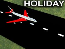 Free Plane With Runway 3 Royalty Free Stock Image - 4784396