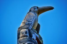 Free Raven Totem Stock Photography - 4784862