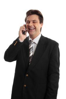 Free Happy Businessman On Phone Stock Photography - 4785432