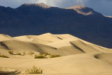 Sand Dunes And Mountains Stock Photography
