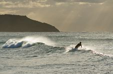 Free The Surfer S Silhouette Royalty Free Stock Photo - 4785445