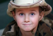 Free Boy In The Fatigues Hat Stock Image - 4786001