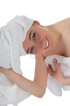 Free Beautiful Girl With Towel Stock Images - 4786774