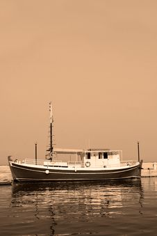 Free Boat Vintage Style Royalty Free Stock Image - 4787486