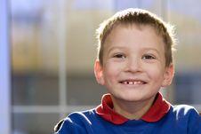 Free Smiling Boy In Blue Sweatshirt Royalty Free Stock Image - 4787636