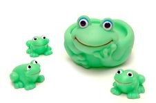 Frog Mom Ang Her Kids Royalty Free Stock Photo