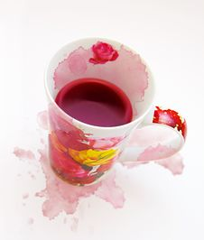Free Dirty Cup With Blobs Stock Photo - 4788090