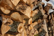 Free Stacked Firewood Royalty Free Stock Photography - 4788167