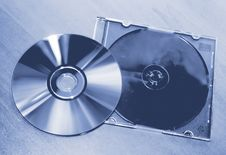 Free Compact Disc On The Table Stock Image - 4788551