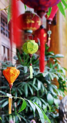 Traditional Silk Lanterns Stock Photos