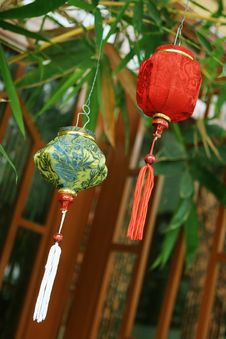 Traditional Silk Lanterns Stock Image