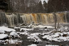 Free Winter Waterfall Stock Photo - 4788780
