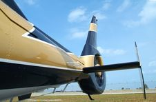 Tail Of Helicopter Royalty Free Stock Images